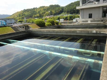 谷ケ原浄水場・急速ろ過池