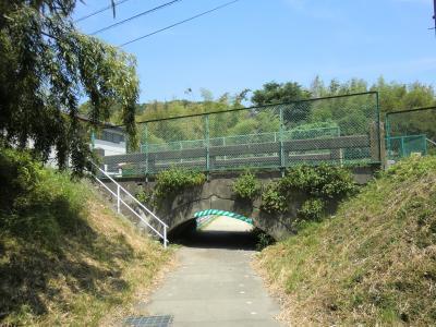 アーチ型の橋・小沢隧道出口付近