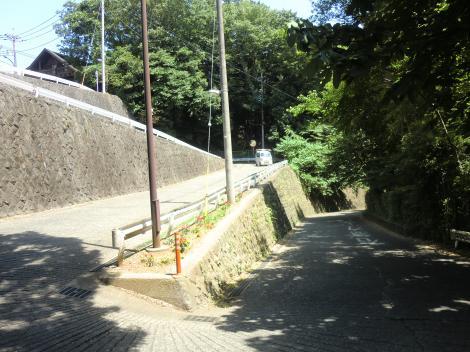 七曲り坂・相模原市南区陽光台