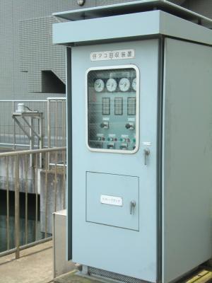仔アユ回収装置・ビオトープポンプ制御盤