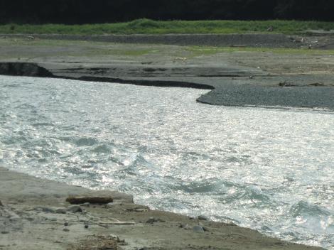 道志川の流れ・河口付近