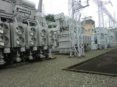 城山発電所・変圧器