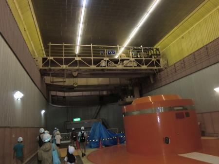 城山発電所・発電電動機室クレーン