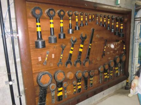 ポンプ水車周りの工具