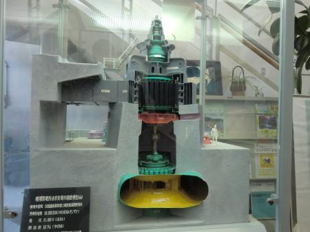 相模発電所水車発電機精密模型