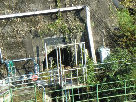 畑地かんがい隧道取水口