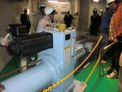 1号機水車ガイドベーン電動サーボモータ