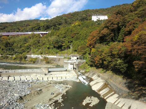 東京電力山北発電所取水口