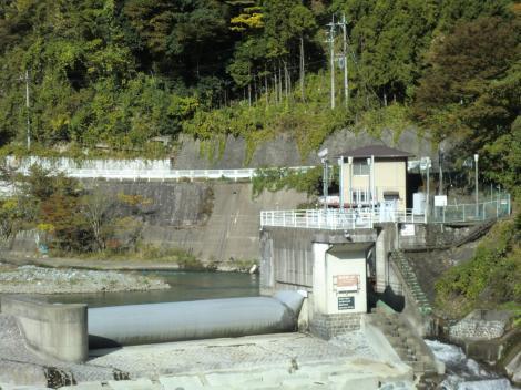 東京電力山北発電所取水堰(ラバーダム)