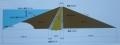 三保ダム標準断面図
