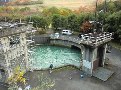 三保ダム常用放流設備・分水槽