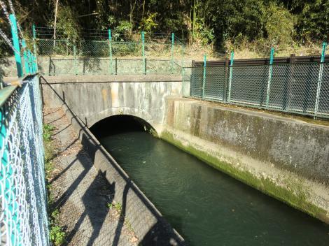 山北発電所導水路隧道出口