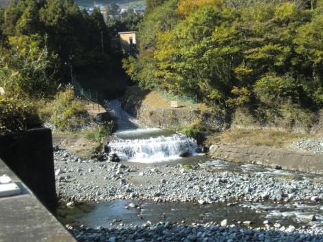 山北発電所導水路放流口