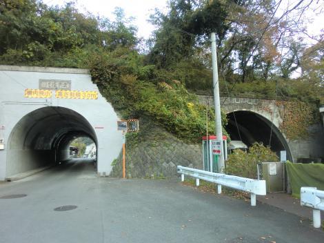 安戸隧道と新安戸隧道