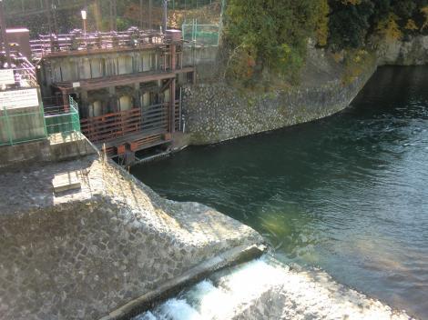 東京電力内山発電所取水口