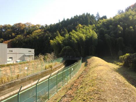 内山発電所導水路・棚倉神社付近