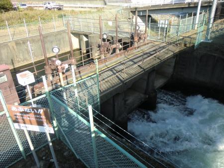 福沢第1発電所取水口