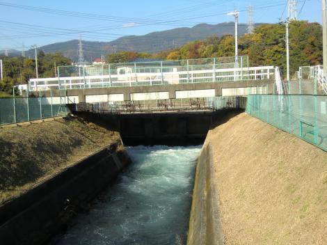 福沢第1発電所導水路(文命用水)