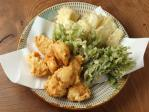 鶏天山菜天ぷら35