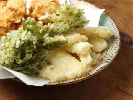 鶏天山菜天ぷら32