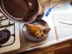 水カレイ煮付け15