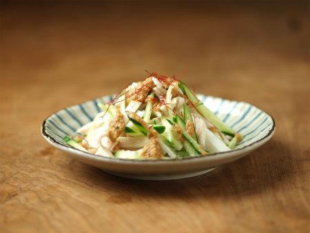 蒸し鶏サラダ23