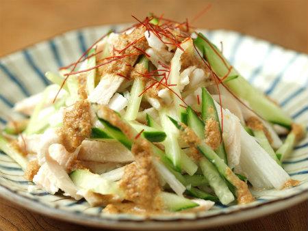 蒸し鶏サラダ21