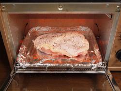 トースター鶏の塩焼き04