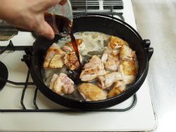 鶏すき焼き13