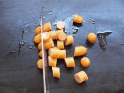 鶏肝トマト煮パスタ10
