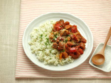 鶏肝のトマト煮バターライス17