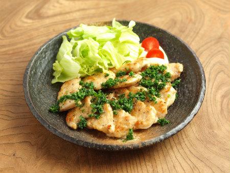 鶏むね肉のパセリバターソテー14