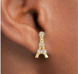 Eiffel Tower Stud Earrings2