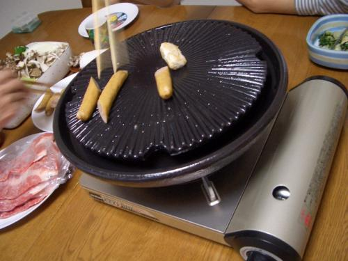 伊賀焼きの焼肉用鍋