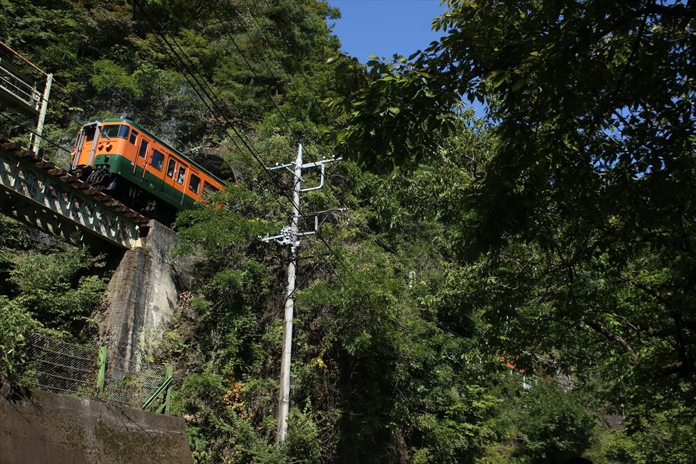 樽沢トンネルを通過する115系。 2014 9/23