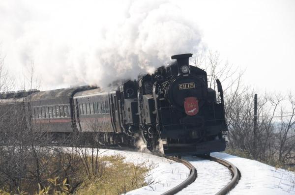 SL冬の湿原号  重連運転