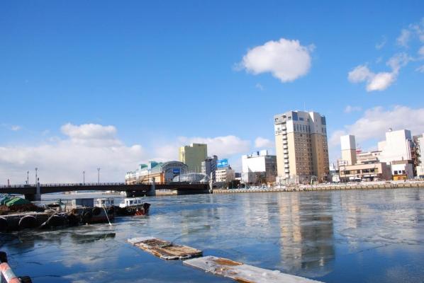 釧路川 幣舞橋付近