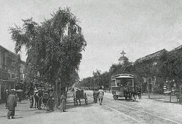 1880年代の銀座通り