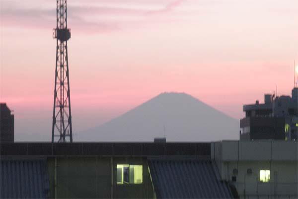 20130817夕焼けの富士山