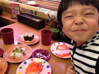 誕生日はお寿司で