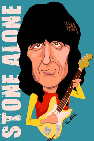Bill Wyman caricature