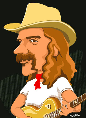 Dickey Betts caricature