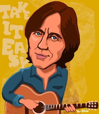 Jackson Browne caricature