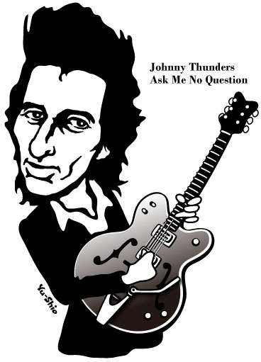 Johnny Thunders caricature