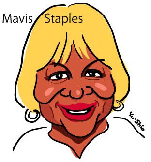 Mavis Staples caricature
