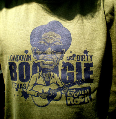 EverydayRock T Shirt Lightnin' Hopkins Caricature