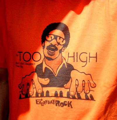 EverydayRock T Shirt Stevie Wonder Caricature