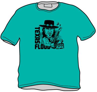 EverydayRock T Shirt Stevie Ray Vaughan SRV Caricature