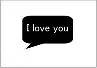 フォトプロップス(I love you)テンプレート・フォーマット・雛形