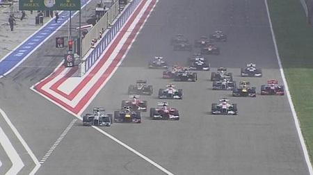 2013年F1第4戦のスタート